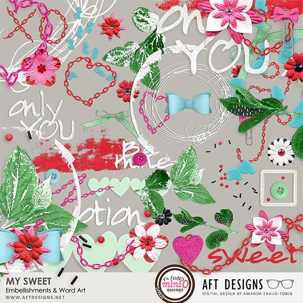 My Sweet Embellishments & Word Art