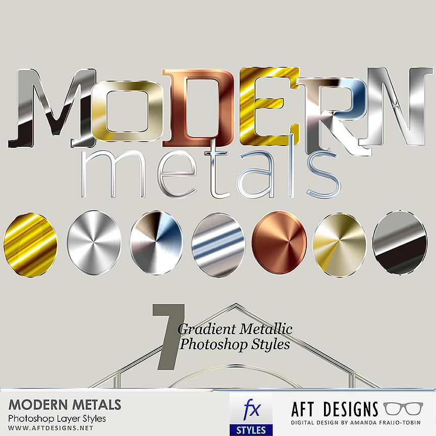 Layer Styles: Modern Metals