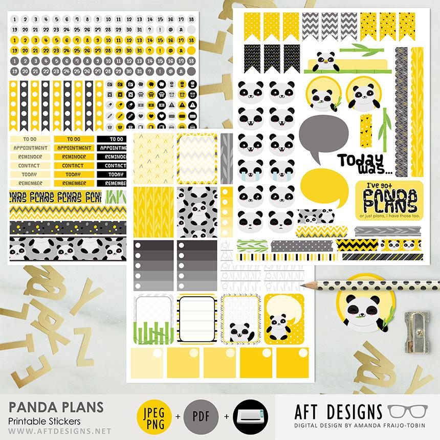 Stickers: Panda Plans