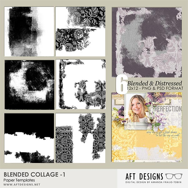 Paper Templates: Blended Collage 1