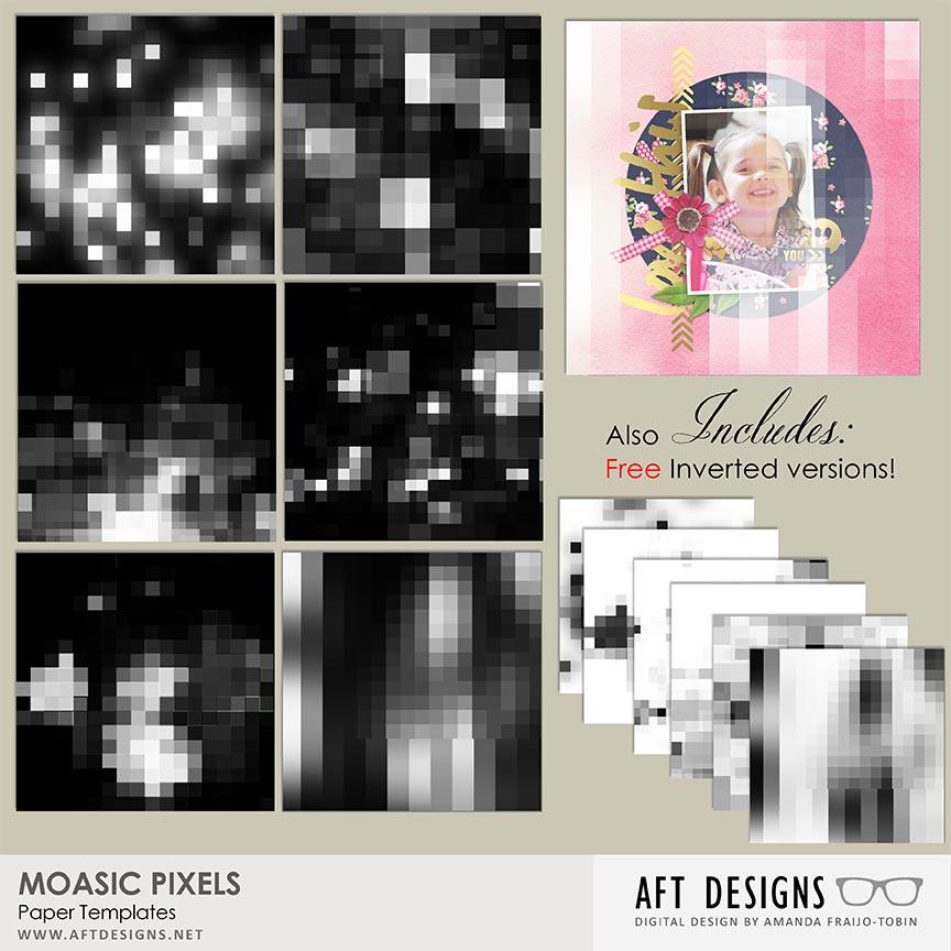 Paper Templates - Mosaic Pixels