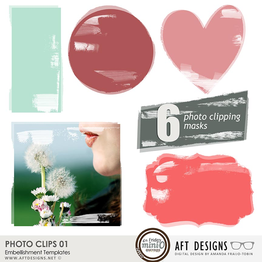 Embellishment Templates - Photo Clips 01
