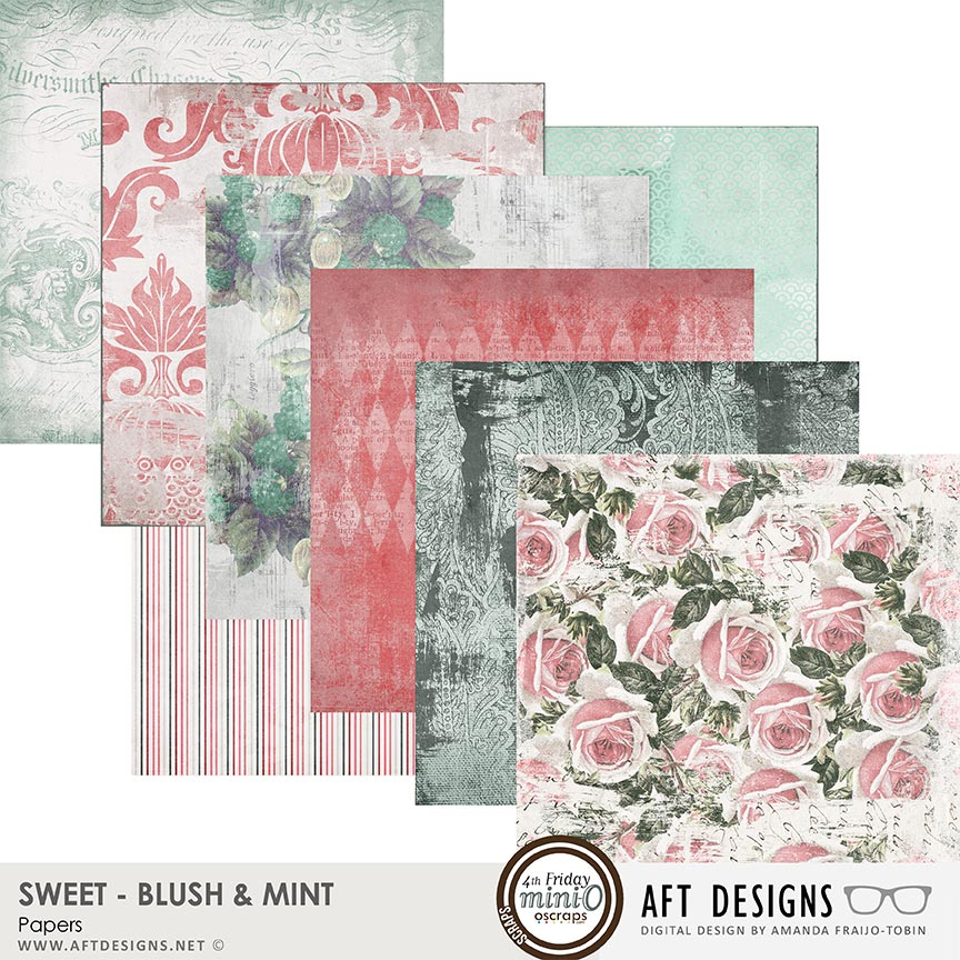 Sweet Blush & Mint Papers