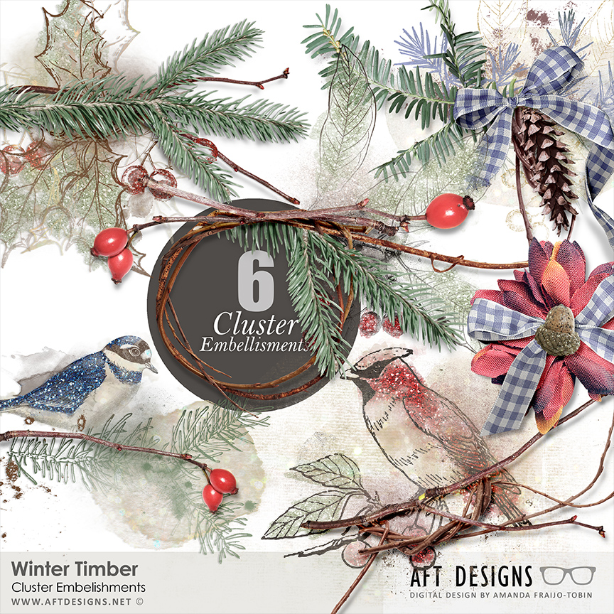 Winter Timber Cluster Embellishments