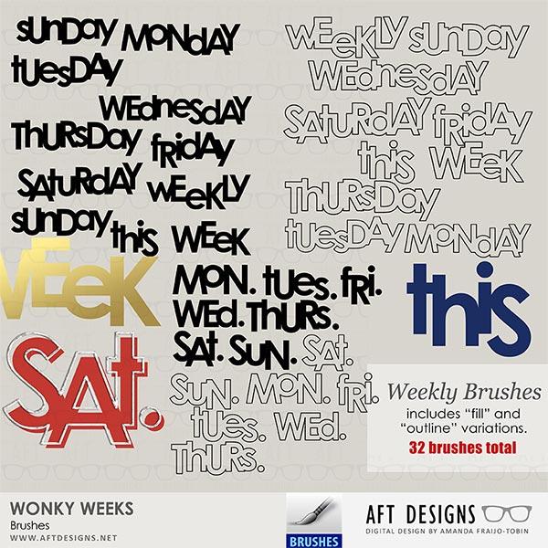 Brush Set: Wonky Weeks