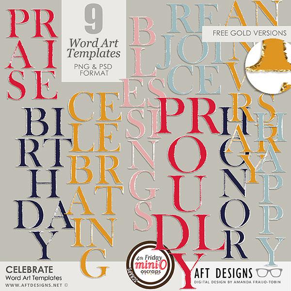 Word Art Templates: Celebrate