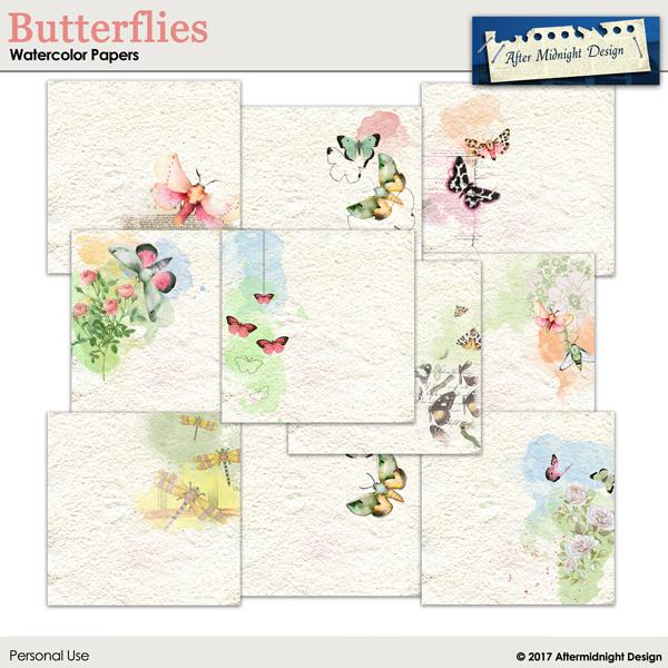 Butterflies Watercolor Paper