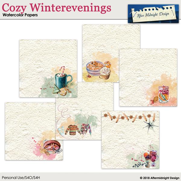 Cozy Winterevenings Watercolor Papers