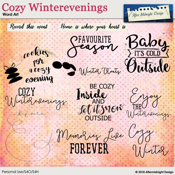 Cozy Winterevenings WordArt
