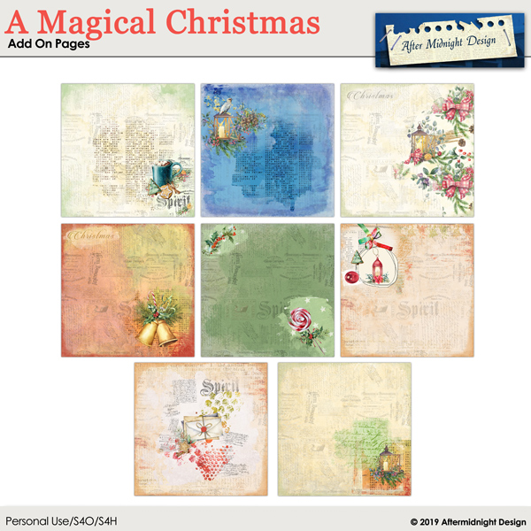 A Magical Christmas AddOn Pages