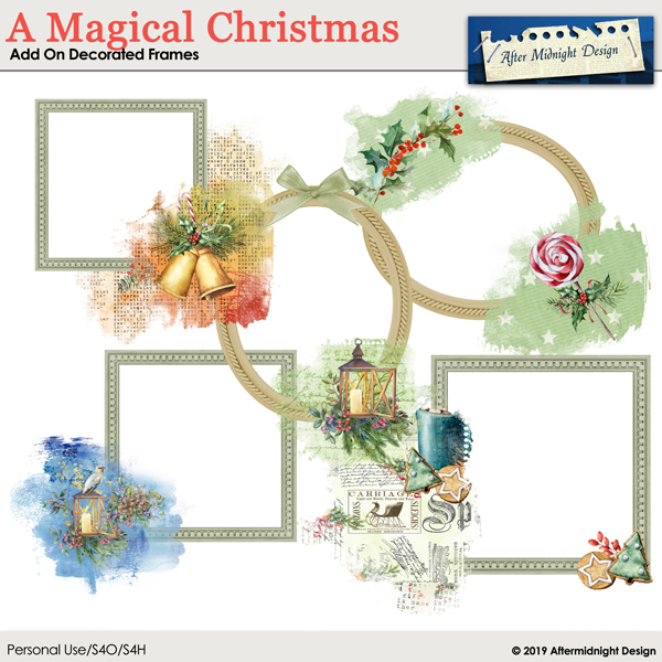 A Magical Christmas AddOn Decorated Frames
