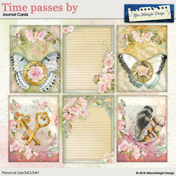 Time Passes by Journal Cards