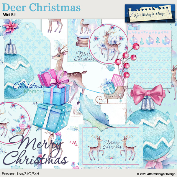 Deer Christmas Mini Kit