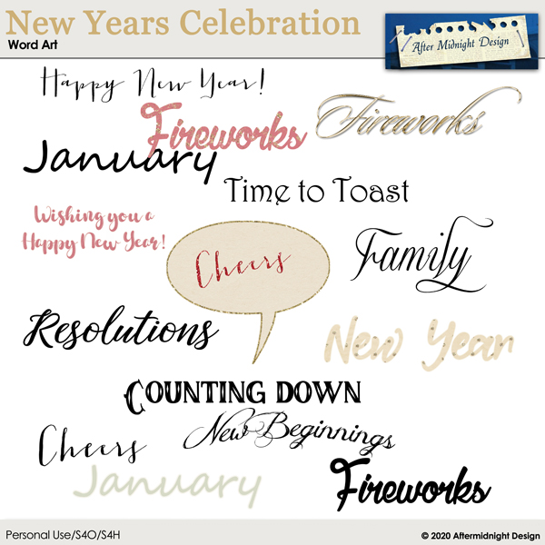 New Years Celebration WordArt