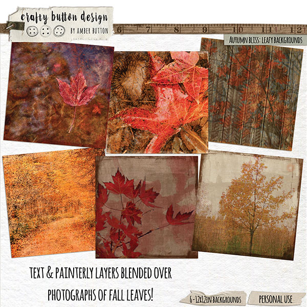 Autumn Bliss Leafy Backgrounds