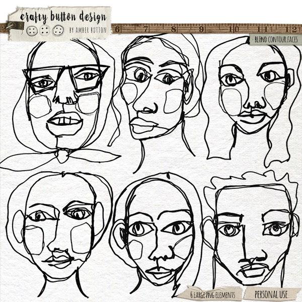 Blind Contour Faces