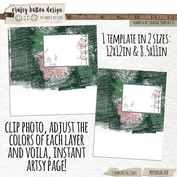 Flourish Art Journal Template Set