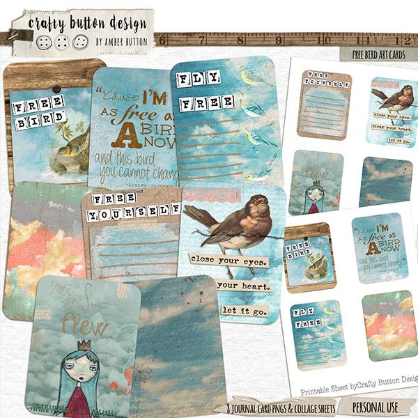 Free Bird Art Cards