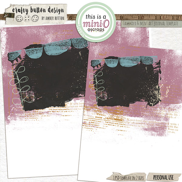 Lavender And Mint Art Journaling Template