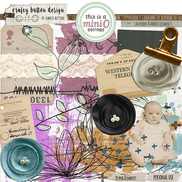 Lavender And Mint Elements