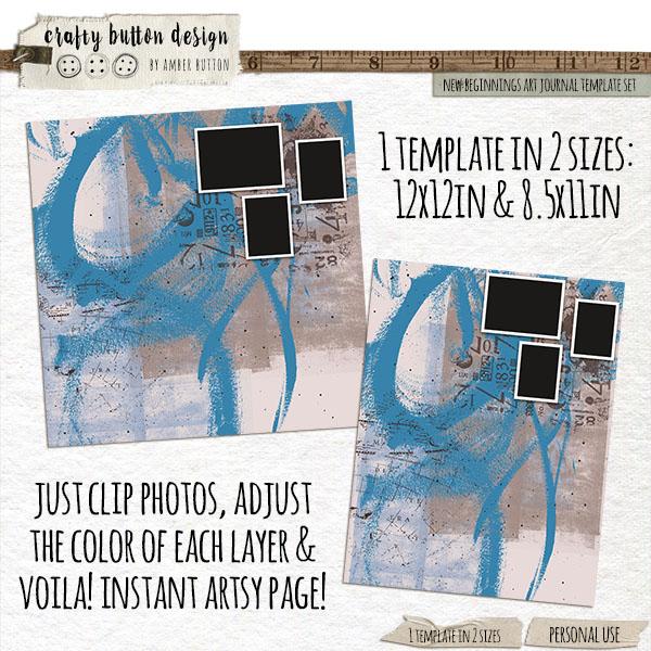 New Beginnings Art Journal Template Set