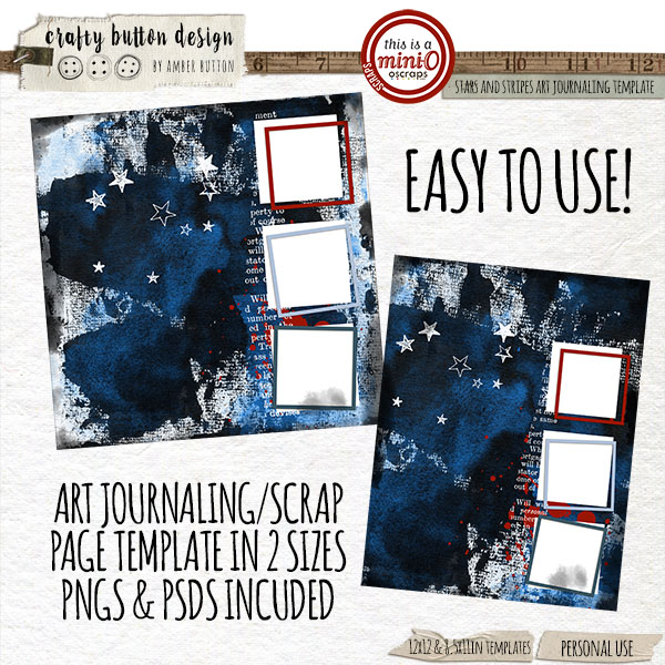 Stars And Stripes Art Journaling Template