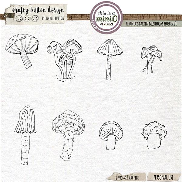 Titania's Garden Mushroom Brushes Vol2
