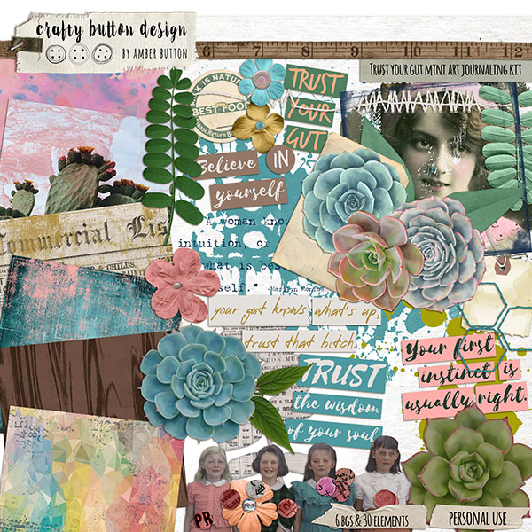 Trust Your Gut Mini Art Journaling Kit