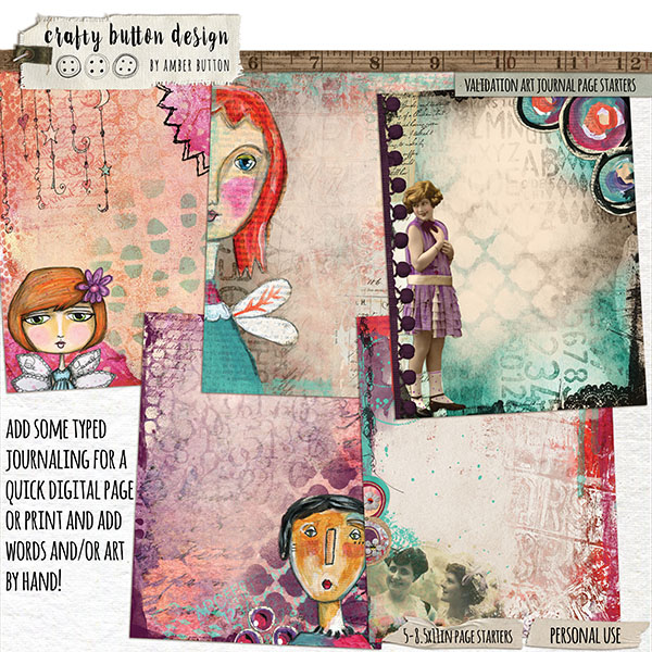 Validation Art Journal Page Starters(Collaboration with Courtney's Designs)