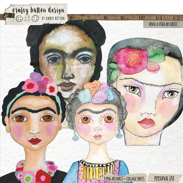 Art Dolls by Crafty Button design