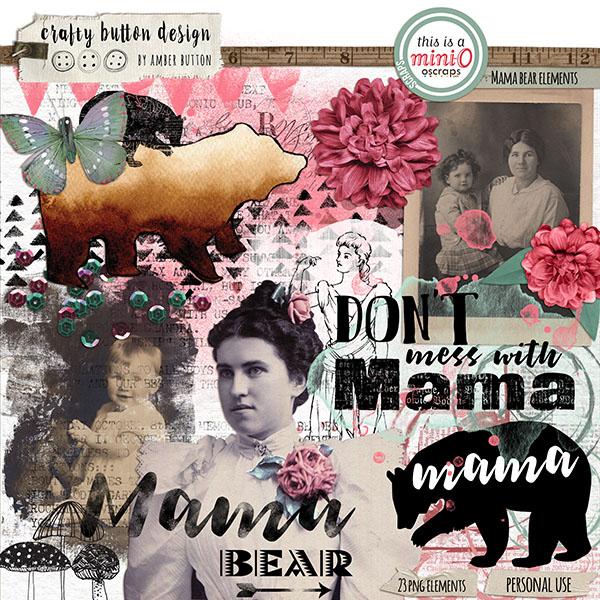 mama bear by crafty button design