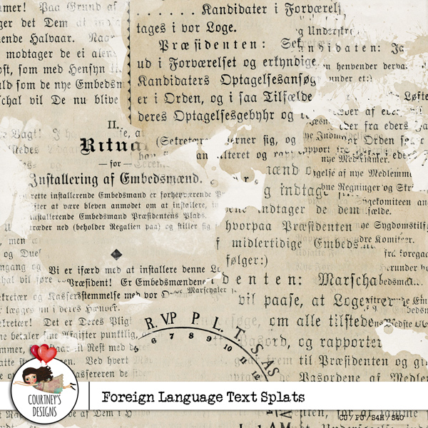 Foreign Text Splats - CU/PU