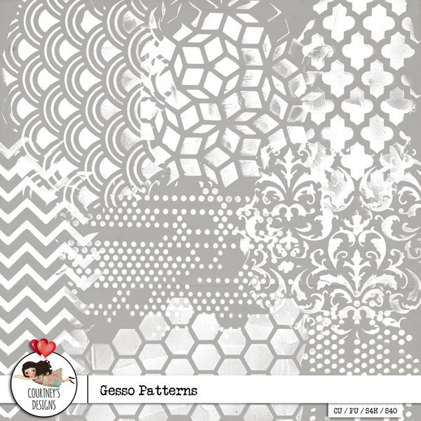 Gesso Patterns Vol. 1 - CU/PU