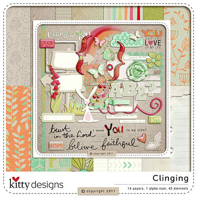 Clinging Page Kit by Kitty Designs