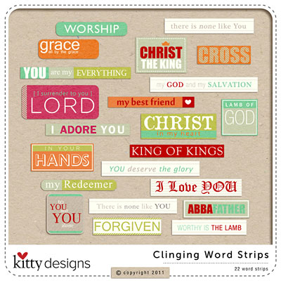 Clinging {Word Strips}