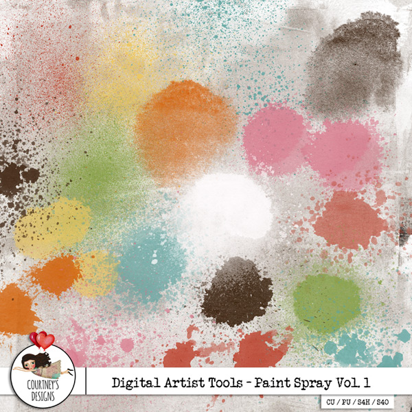 Digital Artist Tools - Paint Spray Vol. 1