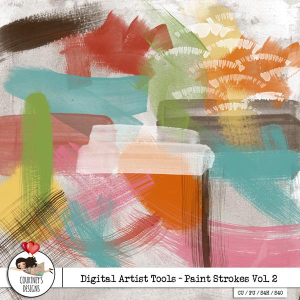Digital Artist Tools - Paint Strokes Vol. 2