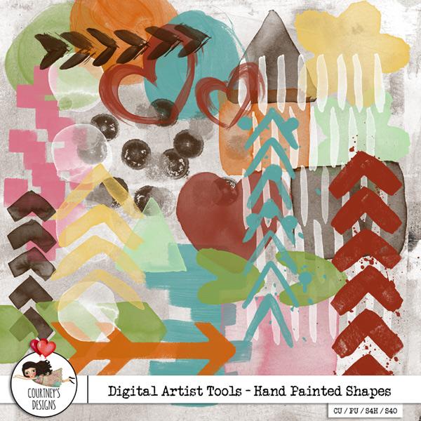 Digital Artist Tools - Painted Shapes Vol. 1