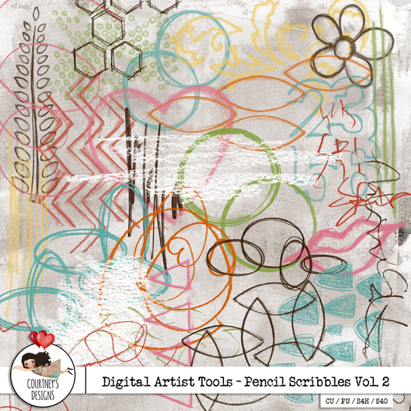 Digital Artist Tools - Pencil Scribbles Vol. 2