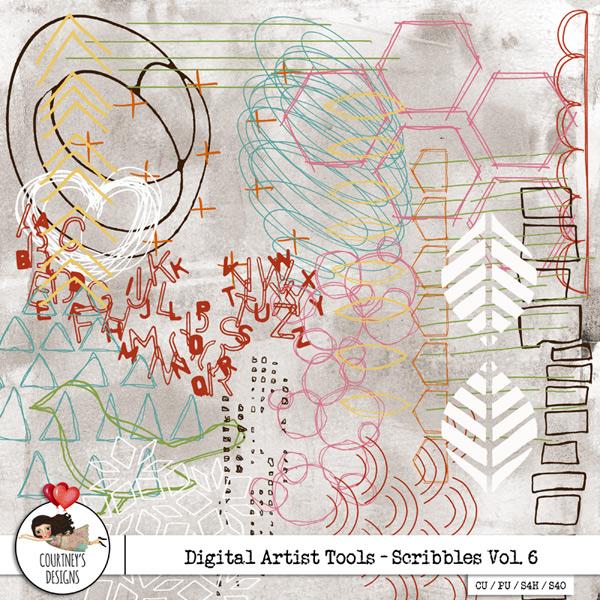 Digital Artist Tools - Scribbles - Vol. 6
