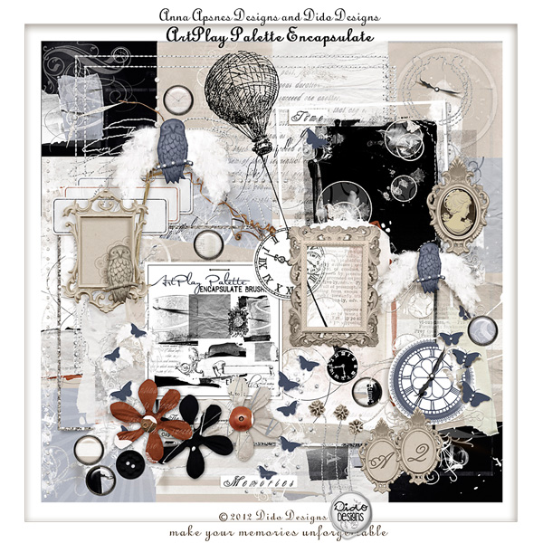 ArtPlay Palette Encapsulate | collab kit by Dido Designs and Anna Aspnes Designs.