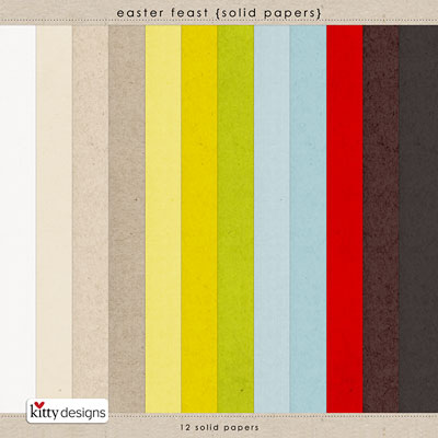 Easter Feast {Solid Papers}