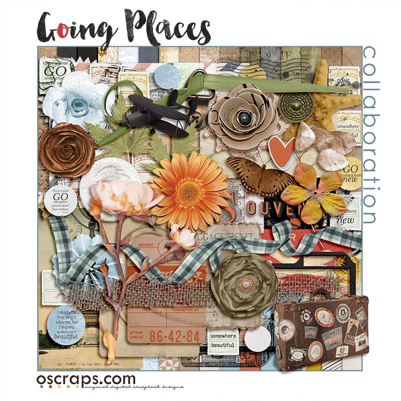 Going Places :: An Oscraps 2015 Collaboration