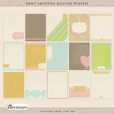Heart Sprinkles {Journal Blocks}