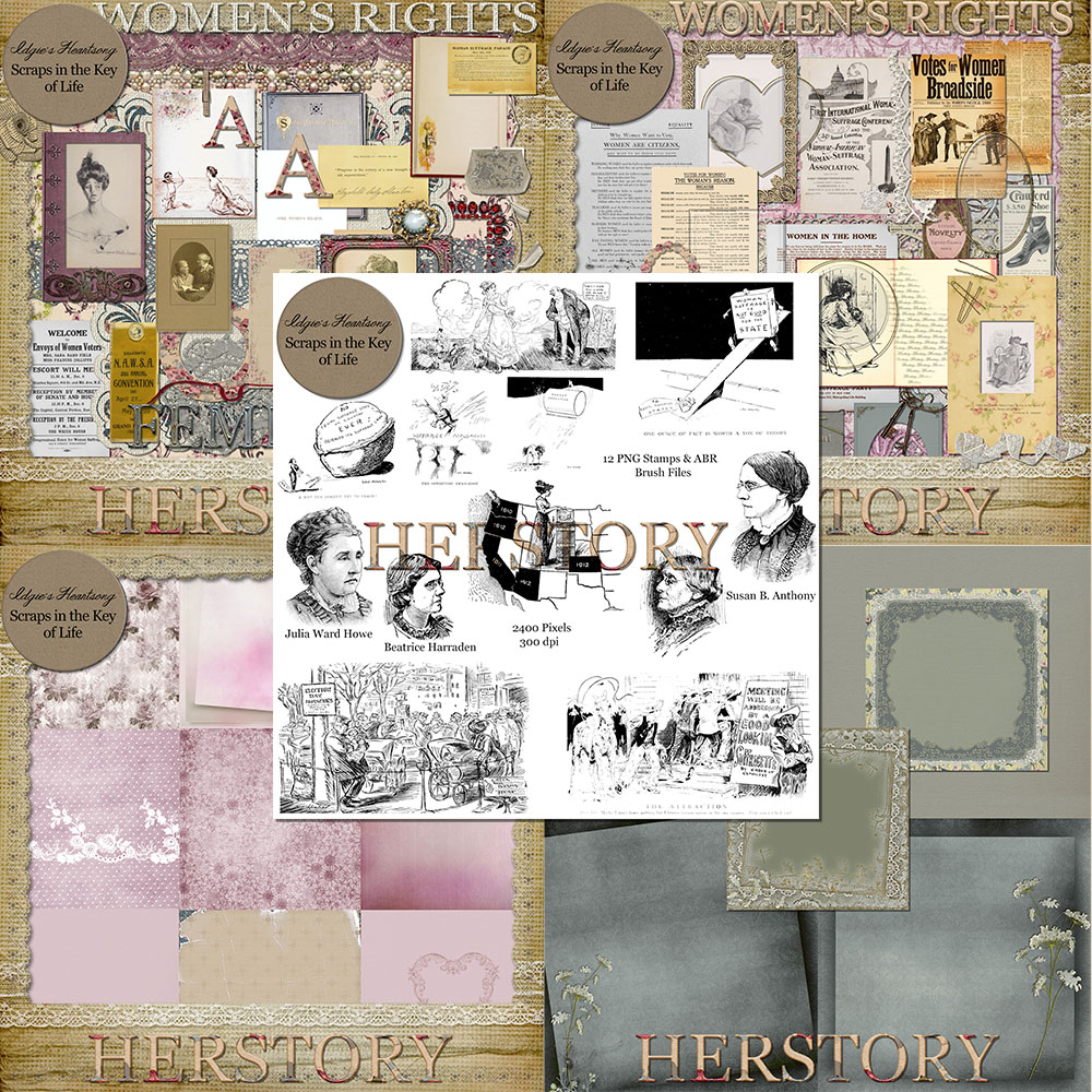 HERSTORY - A Scrapkit Dedicated to the Women That Paved Our Way by Idgie's Heartsong