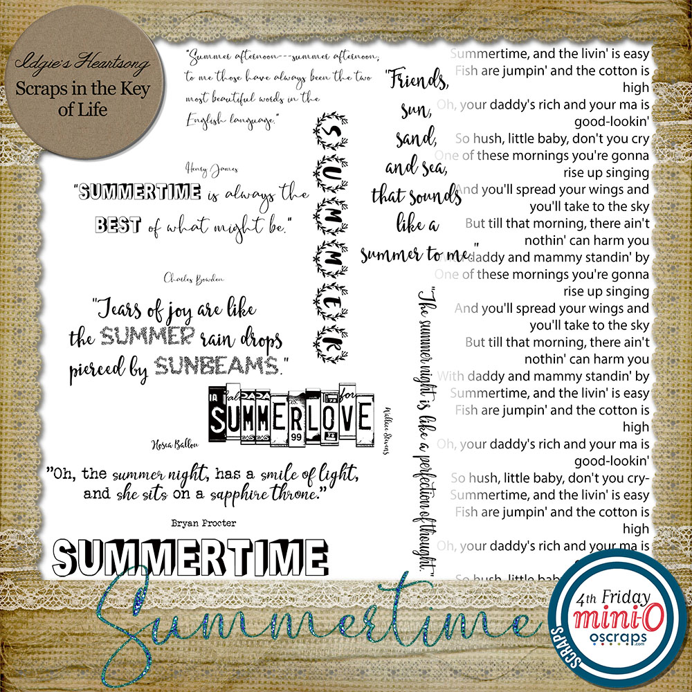 Summertime Word Art by Idgie's Heartsong