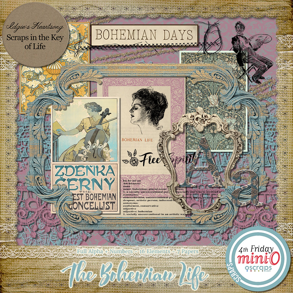 The Bohemian Life - Mini Kit by Idgie's Heartsong