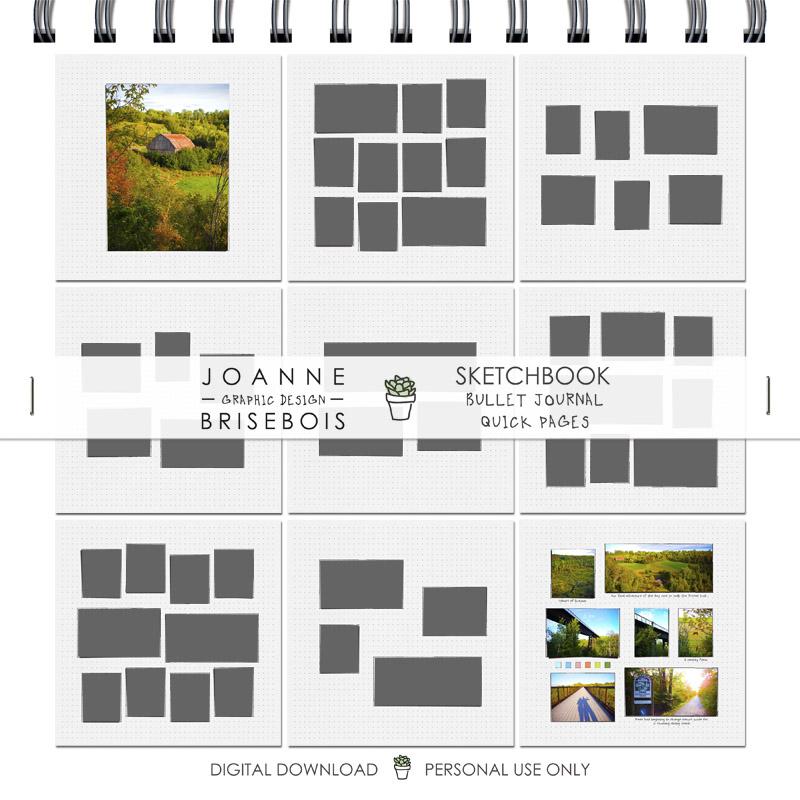 Sketchbook Bullet Journal Quick Pages
