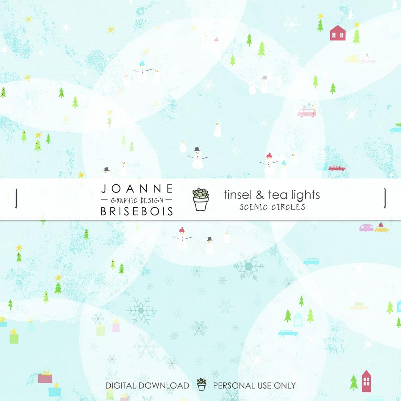 Tinsel and Tea Lights Scenic Circles