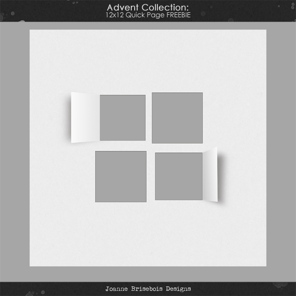 Advent Collection 12x12 Quick Page Freebie